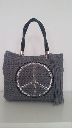 Tasche Bag Borsa trapillo Borse uncinetto Designertasche Handbag Handmade 100%…