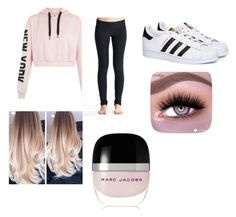 """Pink Fabulous"" by elishajewel ❤ liked on Polyvore featuring adidas and Marc Jacobs"