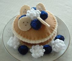 Blueberry Pancakes Fun Felt Food Made To Order by lisajhoney