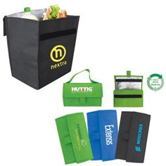 Reusable and recyclable lunch cooler - folds up - Promotional Items from Promote You Promotional Solutions