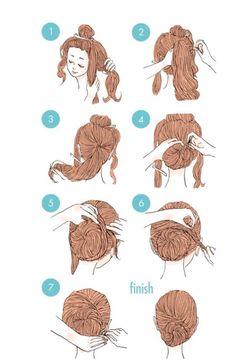 Ideas Hairstyles Step By Step Updo Hairdos 5 Minute Hairstyles, Work Hairstyles, Braided Hairstyles Tutorials, Trendy Hairstyles, Wedding Hairstyles, Cute Simple Hairstyles, Hair Sketch, Super Hair, Stylish Hair