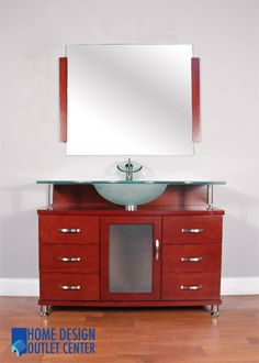 Photo Album For Website  Bathroom Vanity Frosted Glass Top ALYA BW C FGT Cherry Single Modern