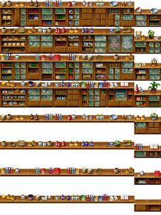 RPG Maker Tile - Furniture by Ayene-chan.deviantart.com on @deviantART