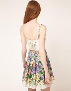 Oasis Dress With Climbing Floral Print