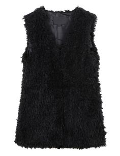 LE3NO Womens Fully Lined Warm Faux Fur Waistcoat Vest