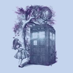 Doctor Who WHO is in Wonderland T-Shirt