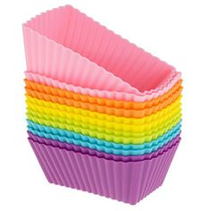 Muangan 12pcs Silica gel Muffin Cases Kitchen Craft Cake Mould Rectangle ** Details can be found by clicking on the image. (This is an affiliate link) #MuffinandCupcakePans