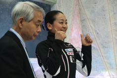 By Chris McGrath Getty Images Sport | Mao Asada of Japan celebrates her score with her coach Nobuo Sato after her routine in the Ladies Short Program during ISU World Figure Skating Championships at Saitama Super Arena on March 27, 2014 in Saitama, Japan. (1536×1024)