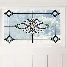 Blue Medici Static Stained Glass Decal | Dunelm