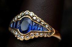 -Sapphires and Diamond Ring, another wonder piece of custom jewelry