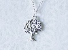 Pretty Silver Tree Necklace / Oxidized by SmittenKittenKendall, $22.95
