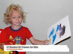 Cute and simple video shows Lil Davinci Kids Art Frames being used,