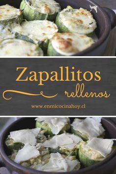Los zapallos italianos rellenos en esta versión sin carne, son mis favoritos, el relleno suave y con el queso derretido encima, una delicia exquisita.