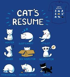 Woot Shirt - Cat's Resume by =fablefire on deviantART