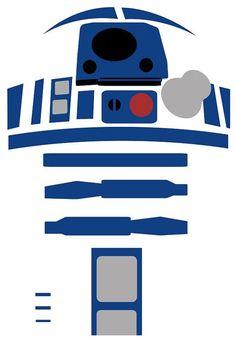 R2D2 star wars Art Work Wall Art Print Poster by geeksleeksheek, by Guia Castelo Branco