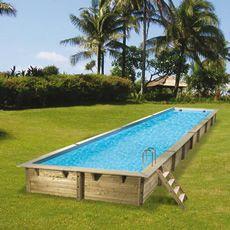 Piscina Fuori Terra In Legno Rettangolare Master Pool 15 5x3 5 M