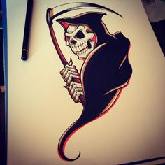 30 Horrible Grim Reaper Tattoo Designs & Meanings