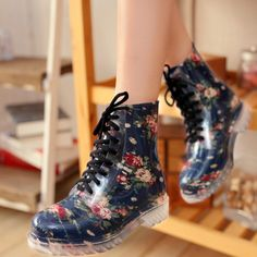 """Sweet cute broken flower rain boots Cute Kawaii Harajuku Fashion Clothing & Accessories Website. Sponsorship Review & Affiliate Program opening beautiful boots use this coupon code """"pinscute"""" to get all 10% off shop now for lowest price."""