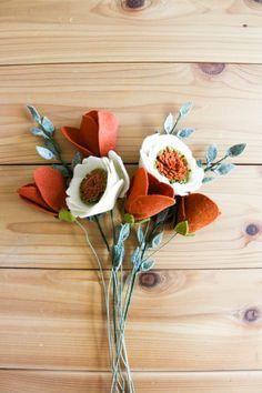 Felt Flower Bouquet by TheUrbanAcres on Etsy
