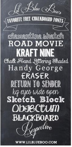 the best chalk fonts