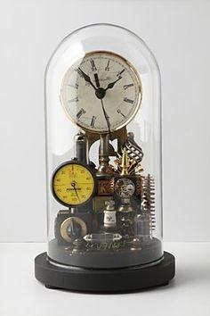 Repurposed Dome Clock, Yellow