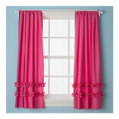 Ruffle curtains. Except that I might want the ruffles at the top? These almost look like a knit fabric...