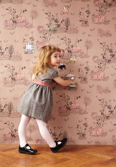 Magnetic Woodlands Wallpaper by Sian Zeng. This magnetic wallpaper will bring fairy tales to life in a child's room. Magical woodlands wallpaper in toile style… Nursery Wallpaper, Kids Wallpaper, Wallpaper Awesome, Expensive Wallpaper, Toile Wallpaper, Normal Wallpaper, Beautiful Wallpaper, Wallpaper Paste, Perfect Wallpaper
