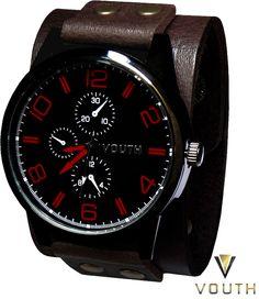 Relógio Bracelete de Couro Masculino Vouth  Visite nossa FanPage : https://www.facebook.com/Passarella-Brasil-212170078859412/ Visite nosso site: http://www.passarellabrasil.com.br/ #passarellabrasil #relógiovouth #vouth