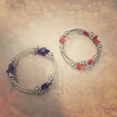 Two silver bracelets Adjustable brand new with beads Jewelry Bracelets