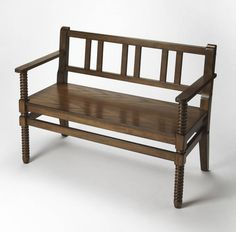 Butler Specialty Company - Butler Lofton Praline Bench - Accent and Storage Benches Large Furniture, Furniture Deals, Contemporary Furniture, Outdoor Furniture, Online Furniture, Furniture Outlet, Transitional Living Rooms, Transitional House, Living Room Chairs