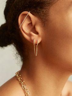 Evelien Industrial 18K Gold Vermeil Ear Cuff   BaubleBar
