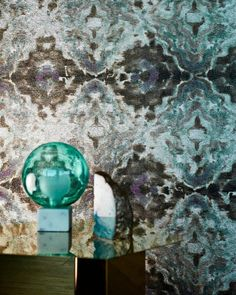 Why not consider this statement wallpaper design for your home, from the Definition collection, it features a striking mirrored image derived from a painted fabric with a rippled watercolour effect. It's their Envision Wallpaper Harlequin Wallpaper, Interior Wallpaper, Botanical Wallpaper, Damask Wallpaper, Geometric Wallpaper, Designer Wallpaper, Buy Wallpaper Online, Watercolor Effects, Watercolour