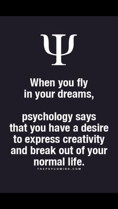 well I did once but I never got higher than rooftops. This explains my desire to be creative but my inability to do so. I'd rather admire others creativity. Dream Psychology, Psychology Says, Psychology Fun Facts, Psychology Quotes, Fact Quotes, Life Quotes, Quotes Quotes, Facts About Dreams, Physiological Facts