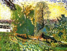 Bonnard, Pierre French (1867 - 1947) Landscape in Normandy 1920 (completed 1926 - 1930) Painting oil on canvas
