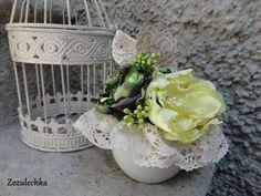 Decorazioni stagionali - Composizione floreale delicata - un prodotto unico di Elena-Lattarulo su DaWanda