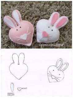 Find images and videos about felt on We Heart It - the app to get lost in what you love. Felt Diy, Felt Crafts, Fabric Crafts, Diy And Crafts, Bunny Crafts, Easter Crafts, Spring Crafts, Holiday Crafts, Felt Bunny