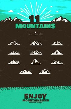 The Mountainbiker - Mountain Bike Logo Kit by lovepower on @creativemarket