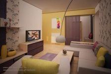 Design apartament mic in culori calde Corner Desk, My House, Art Deco, Living Room, Interior Design, Modern, Table, Furniture, Google
