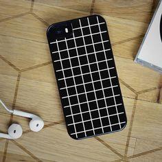 Black Tumblr Grid - iPhone 6S, iPhone 5 5S 5C, iPhone 6 Case, plus Samsung Galaxy S4 S5 S6 Edge Cases - Shadeyou Phone Cases