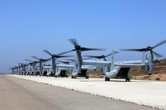 Bell-Boeing V-22 Ospreys In Action During Exercise Dawn Blitz.Posted on Jun 22, 2013.