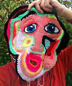 frihæklet maske