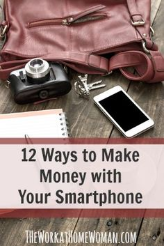 Looking for ways to make extra money? Check out these 12 legit ways to make money from home by using your smartphone. via The Work at Home Woman