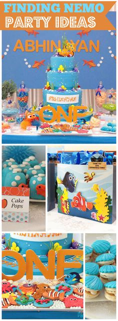 What a fantastic Finding Nemo under the sea party! See more party ideas at… Party Themes For Boys, Girl Birthday Themes, Boy Birthday Parties, Friend Birthday, Birthday Ideas, Themed Parties, 2nd Birthday, Happy Birthday, Party Ideas