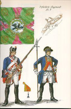 Prussia; infantry regiment No.9, c.1750