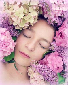 Floral Portrait Photograph Girl Dreamy by VictoriaEnglishCharm
