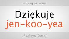"How to Say ""Thank You"" in Polish Polish Desserts, Polish Recipes, Thank You In Polish, Polish Words, Polish Sayings, Irish Last Names, European History, American History, Learn Polish"
