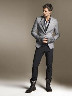 combat boots with suiting