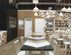 Cornerstone Cafe by Paul Crofts Studio, a chevron I can get behind