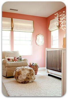 Baby girl nursery - love the butterfly mobile and flower ottoman! | Smart Alec: July 2011