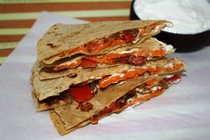 Sweet Potato and Caramelized Onion Quesadillas